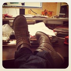 Boots grises la Redoute