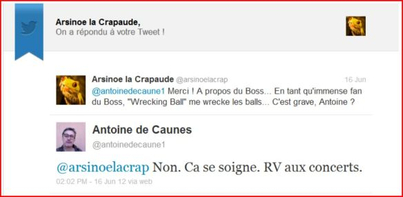 Reponse Antoine de Caunes Twitter